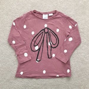 Zara toddler dotted bow tee